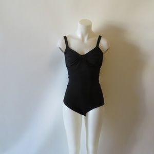 BODY WRAP SHAPEWEAR BLACK UNDERWIRE BODYSUIT 3X *